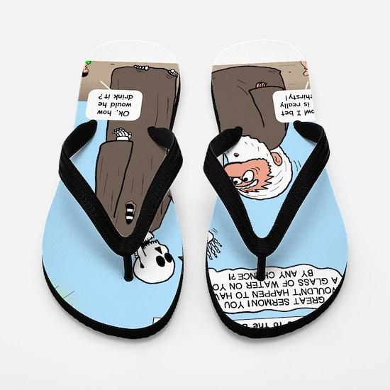 Ezekiel's Dry Bones Flip Flops