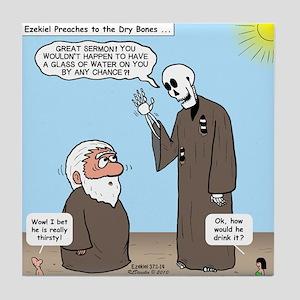 Ezekiel's Dry Bones Tile Coaster