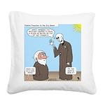 Ezekiel's Dry Bones Square Canvas Pillow