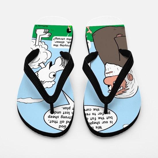 Fat Sheep Protest Flip Flops