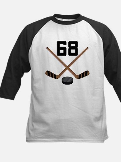 Hockey Player Number 68 Kids Baseball Jersey