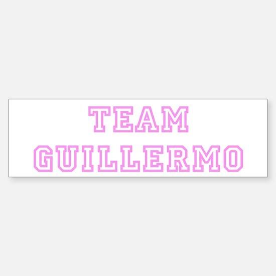 Pink team Guillermo Bumper Bumper Bumper Sticker