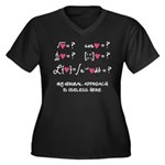 My normal approach Women's Plus Size V-Neck Dark T
