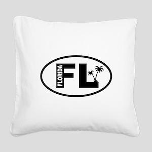 Florida Square Canvas Pillow