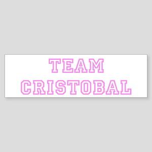 Pink team Cristobal Bumper Sticker