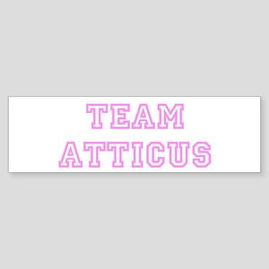 Pink team Atticus Bumper Sticker