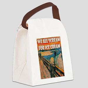 We All Scream Canvas Lunch Bag
