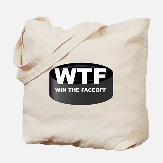 Win The Faceoff Tote Bag