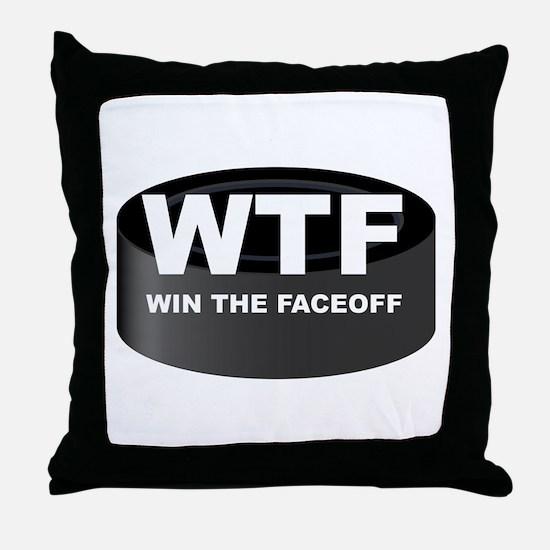 Win The Faceoff Throw Pillow