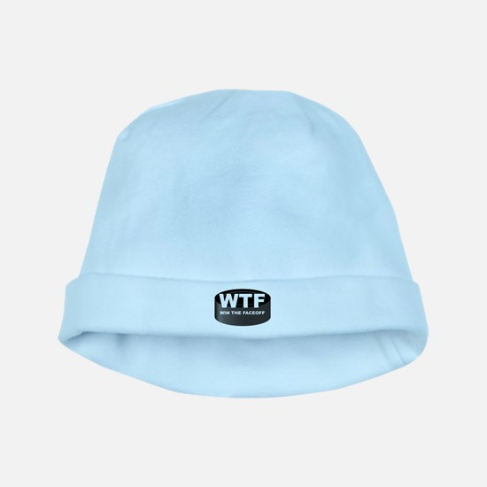 Win The Faceoff baby hat