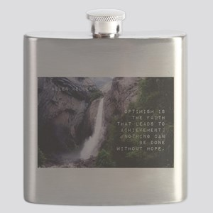 Optimism Is The Faith - Helen Keller Flask