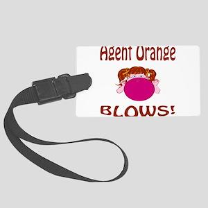 Agent Orange Blows! Large Luggage Tag