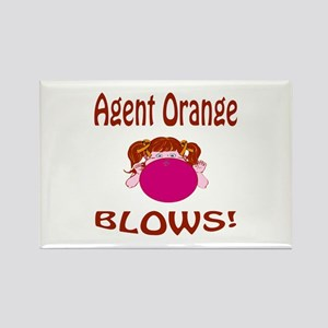 Agent Orange Blows! Rectangle Magnet