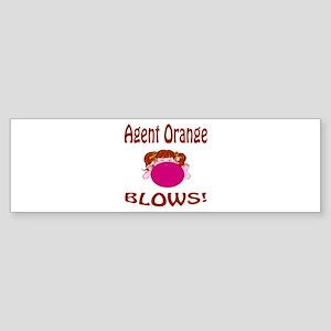 Agent Orange Blows! Sticker (Bumper)