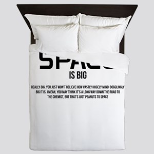 Space is Big Queen Duvet