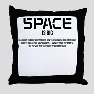 Space is Big Throw Pillow