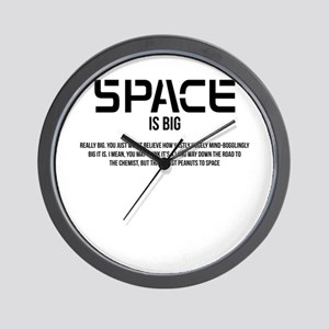 Space Is Big Wall Clock