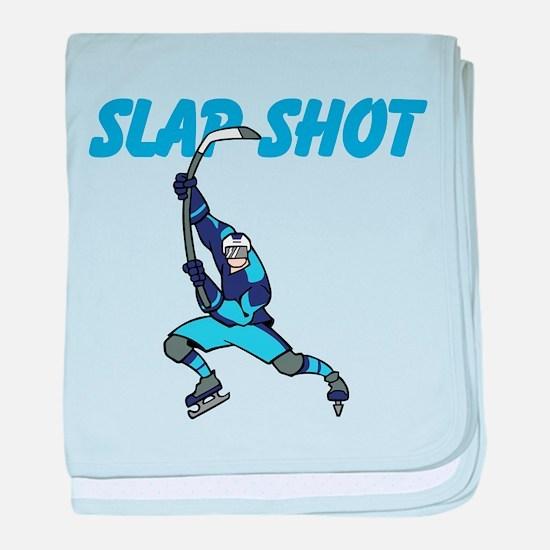 Slap Shot baby blanket