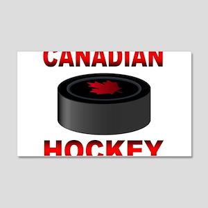 Canadian Hockey 20x12 Wall Decal