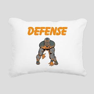 Football Defense Rectangular Canvas Pillow