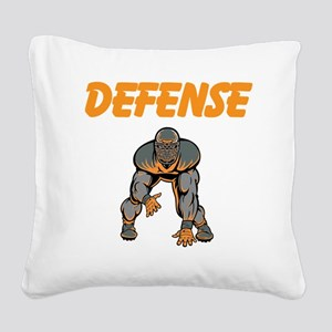 Football Defense Square Canvas Pillow