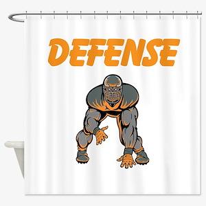 Football Defense Shower Curtain