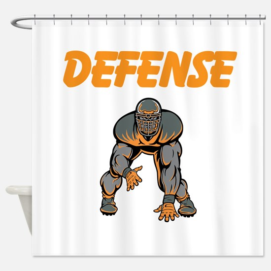 Football Defense Shower Curtain