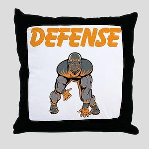 Football Defense Throw Pillow
