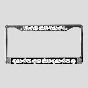 Retro Dice License Plate Frame