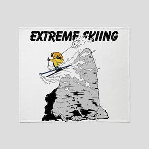 Extreme Skiing Throw Blanket
