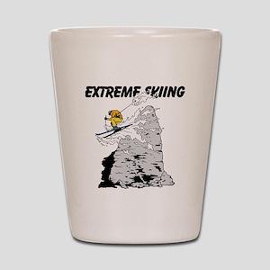 Extreme Skiing Shot Glass