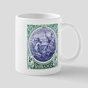 1916 Barbados Neptune Postage Stamp Mug