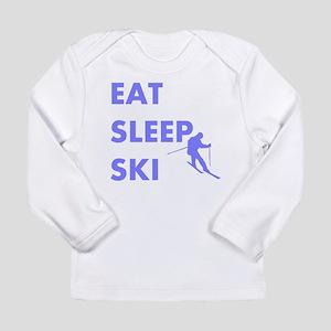 Eat Sleep Ski Long Sleeve Infant T-Shirt
