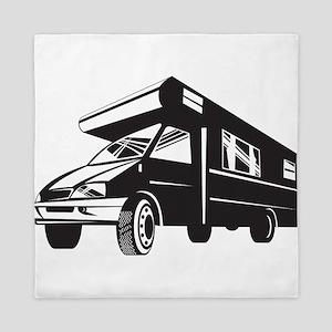 Camper Van Motor Home Retro Queen Duvet