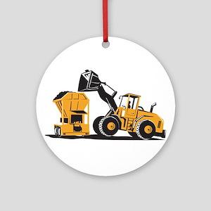 Front End Loader Digger Excavator Retro Ornament (