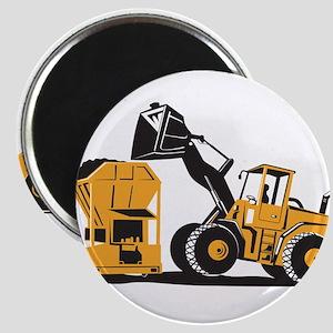 Front End Loader Digger Excavator Retro Magnet