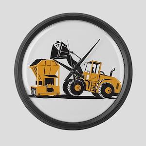 Front End Loader Digger Excavator Retro Large Wall