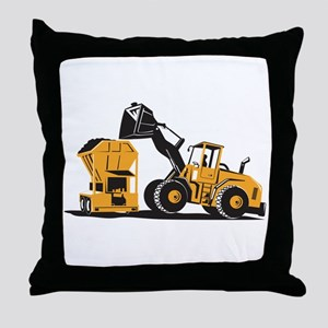 Front End Loader Digger Excavator Retro Throw Pill