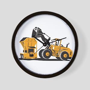 Front End Loader Digger Excavator Retro Wall Clock