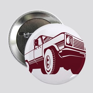 """Pickup Truck Rear Retro 2.25"""" Button"""