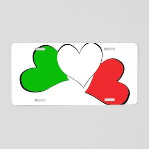 Italian Hearts Aluminum License Plate
