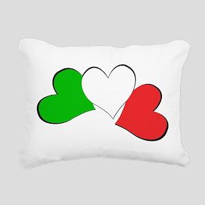 Italian Hearts Rectangular Canvas Pillow