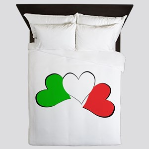 Italian Hearts Queen Duvet