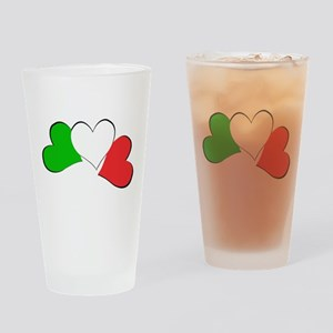 Italian Hearts Drinking Glass