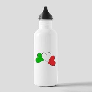 Italian Hearts Stainless Water Bottle 1.0L