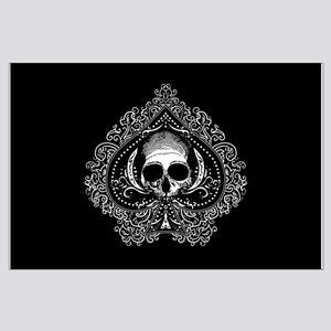 Skull Ace Of Spades Large Poster
