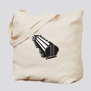 Fuel Tanker Truck Retro Tote Bag