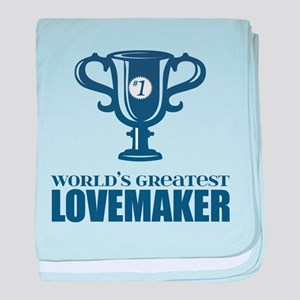Worlds greatest LOVEMAKER baby blanket
