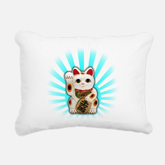 Lucky Cat (Maneki-neko) Rectangular Canvas Pillow