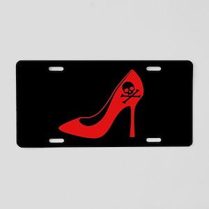 Evil High Heel Shoe Aluminum License Plate